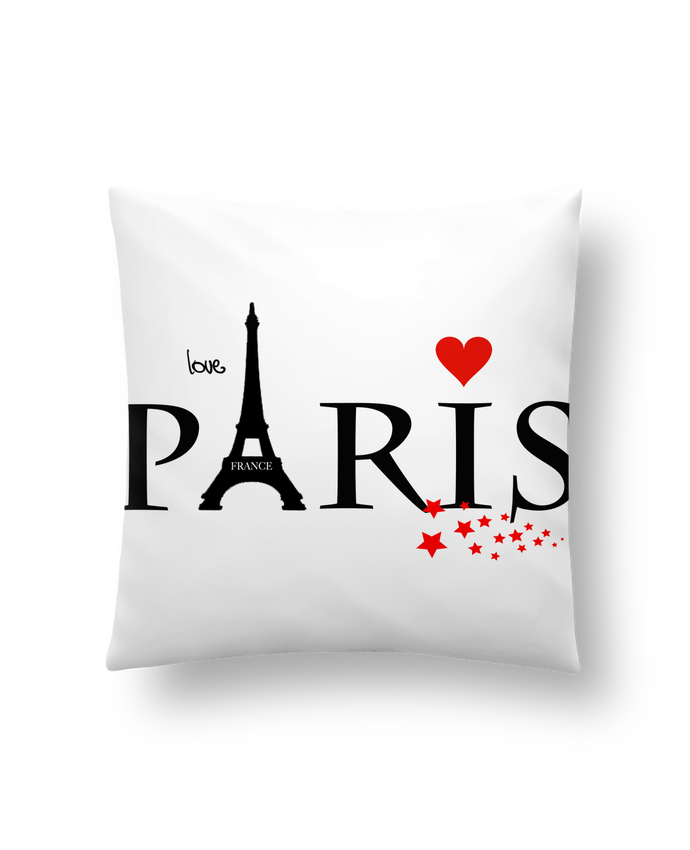 Coussin Synthétique Doux 45 x 45 cm Paris love par Dream Design