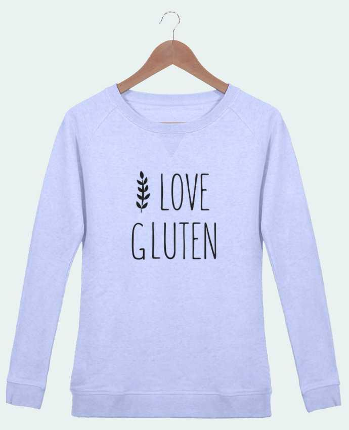 Sweat Col Rond Femme Stella Trips I love gluten by Ruuud par Ruuud