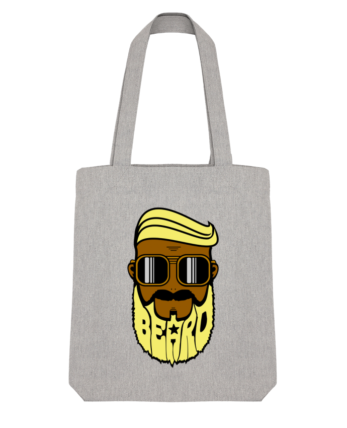 Tote Bag Stanley Stella Beard Barber jaune par BOUTIQUE DU BARBU