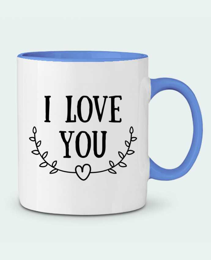 Mug en Céramique Bicolore I love you tunetoo