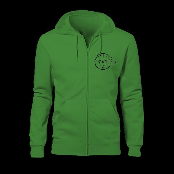 Sweat Zippé Capuche Homme green