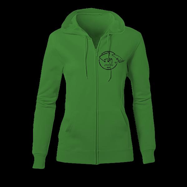 Sweat Zippé Femme green
