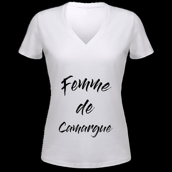 """tee shirt """"femme de camargue"""""""
