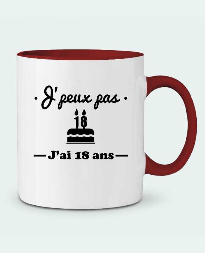Mug bicolore j 39 peux pas j 39 ai 18 ans cadeau d 39 anniversaire benichan - Cadeau d anniversaire 18 ans ...