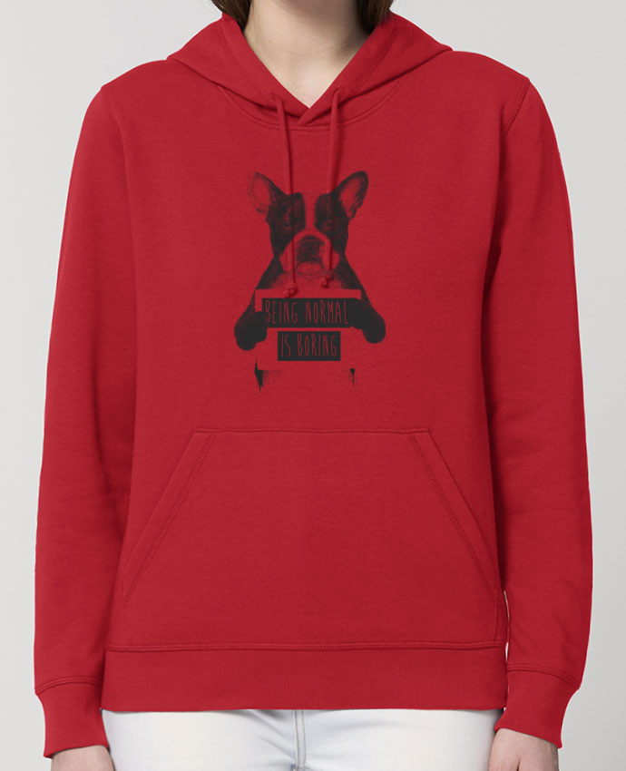 Hoodie Being normal is boring Par Balàzs Solti