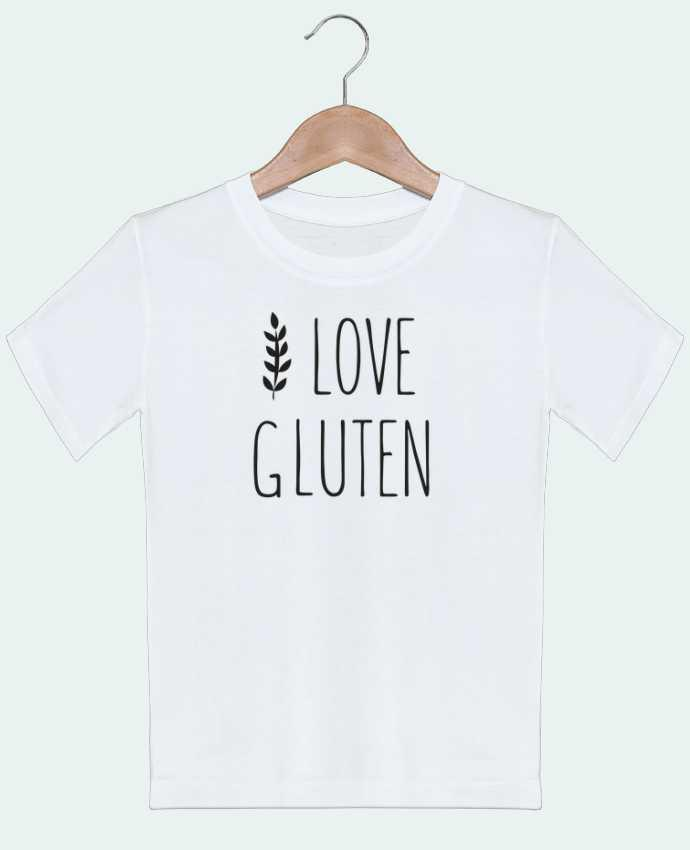 T-shirt garçon motif I love gluten by Ruuud Ruuud