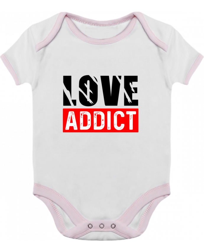 Body Bébé Contrasté Love Addict par Sole Tshirt