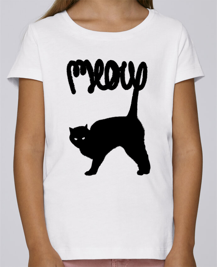 T-shirt Fille Mini Stella Draws Meow par Florent Bodart