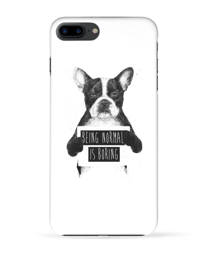 Coque iPhone 7 + Being normal is boring par Balàzs Solti