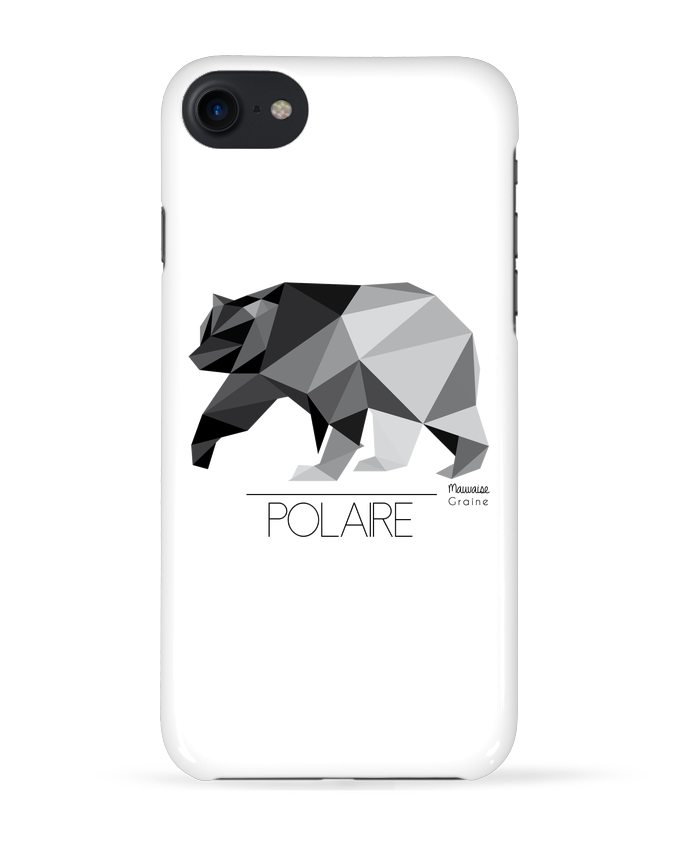1656987 coque 3d iphone 7 blanc ours polaire origami by mauvaise graine