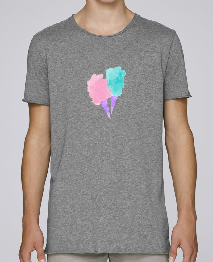 T-shirt Homme Oversized Stanley Skates Watercolor Cotton Candy par PinkGlitter