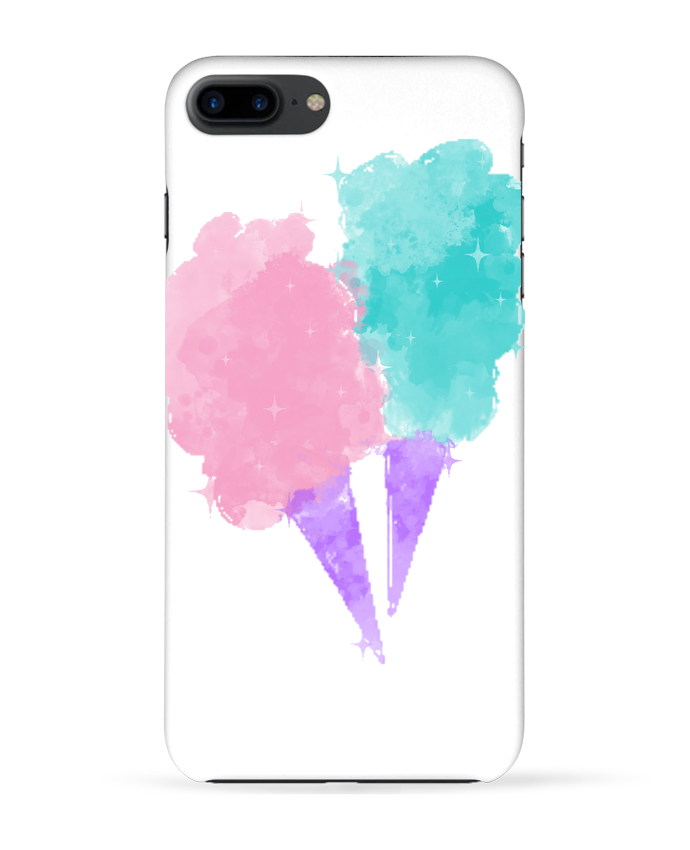 Coque 3D Iphone 7+ Watercolor Cotton Candy par PinkGlitter