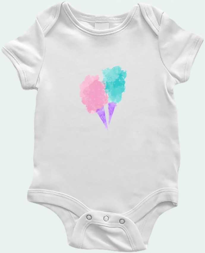 Body Bébé Watercolor Cotton Candy par PinkGlitter