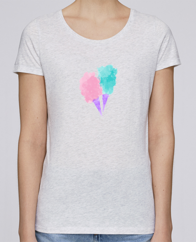 T-shirt Femme Stella Loves Watercolor Cotton Candy par PinkGlitter
