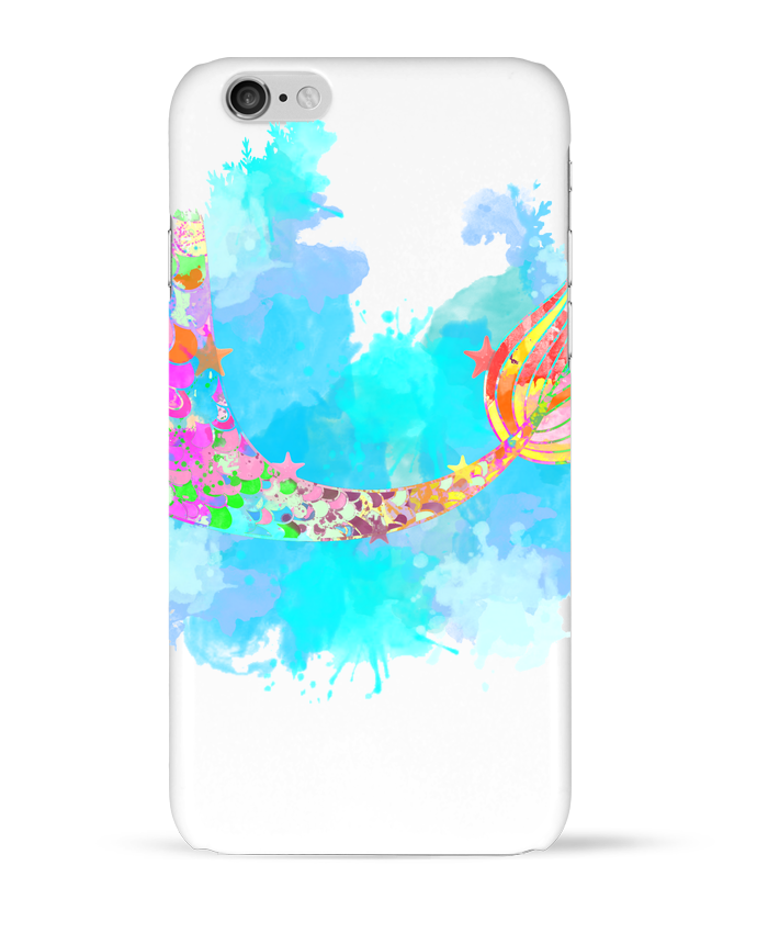 Coque 3D Iphone 6 Watercolor Mermaid par PinkGlitter