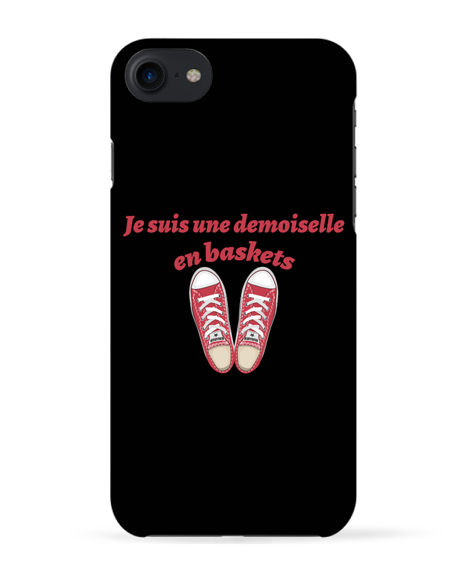 Coque 3D Iphone 7 Je suis une demoiselle en baskets de tunetoo