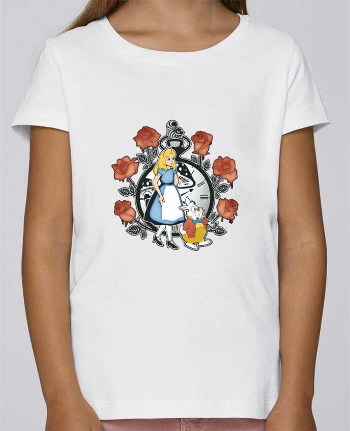 T-shirt Fille Mini Stella Draws Time for Wonderland par Kempo24