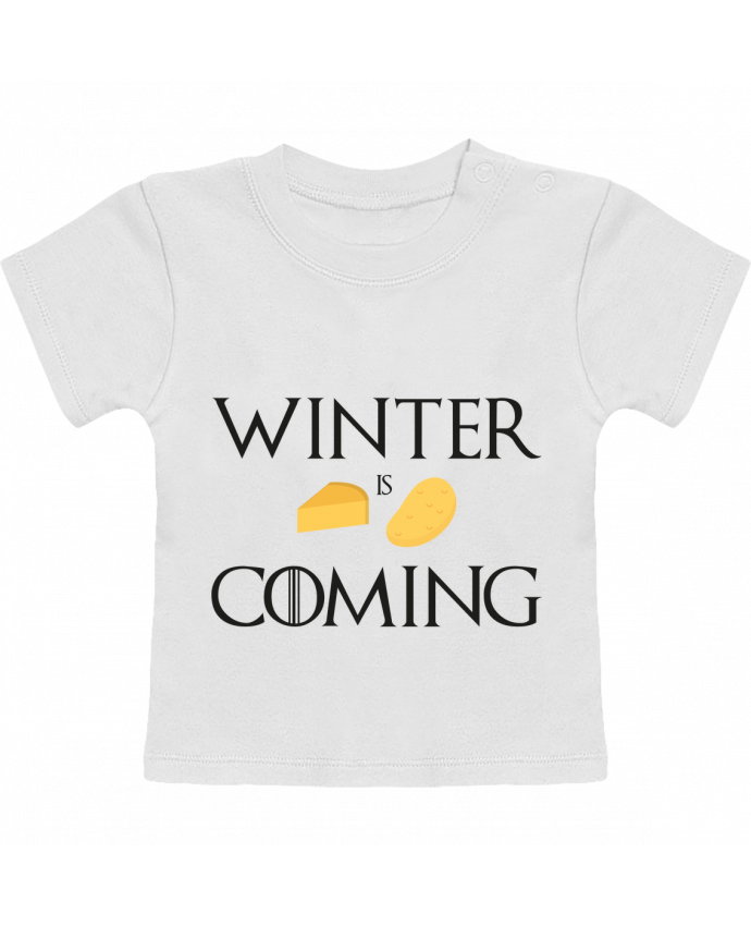 T-Shirt Bébé Manches Courtes Winter is coming manches courtes du designer Ruuud