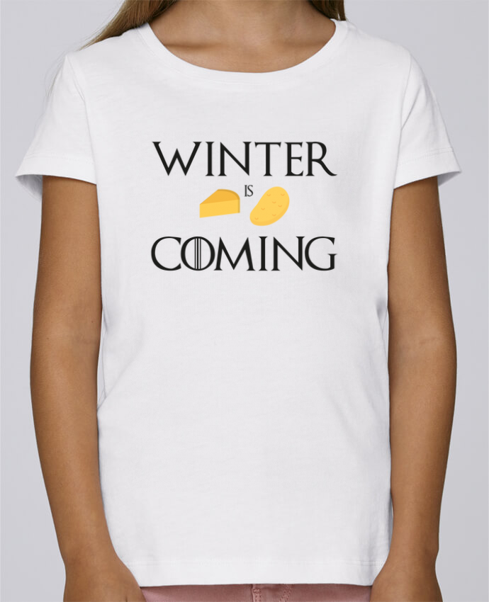 T-shirt Fille Mini Stella Draws Winter is coming par Ruuud