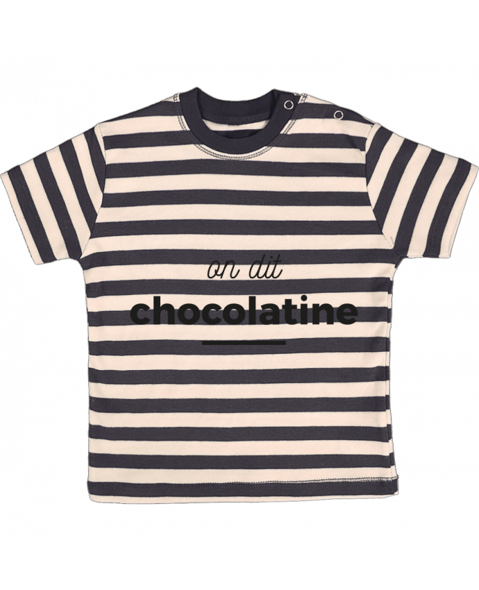 T-shirt Bébé à Rayures On dit chocolatine par Ruuud