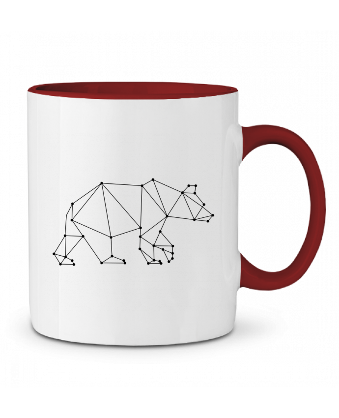 Mug en Céramique Bicolore Bear origami /wait-design
