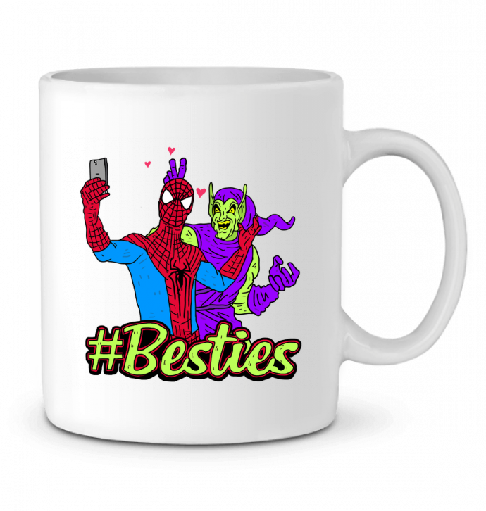 Mug en Céramique #Besties Spiderman par Nick cocozza