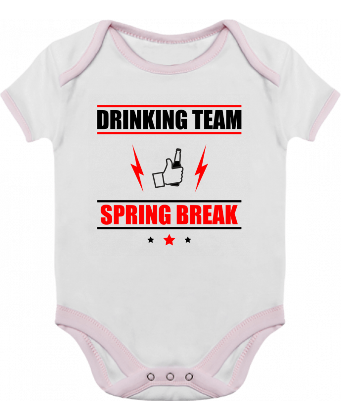 Body Bébé Contrasté Drinking Team Spring Break par Benichan