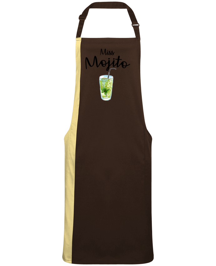 Tablier bicolore Miss Mojito par  FRENCHUP-MAYO