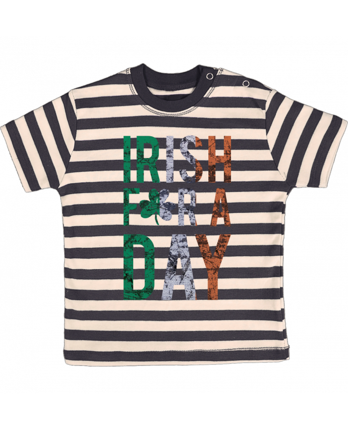 T-shirt Bébé à Rayures Irish for a day par tunetoo