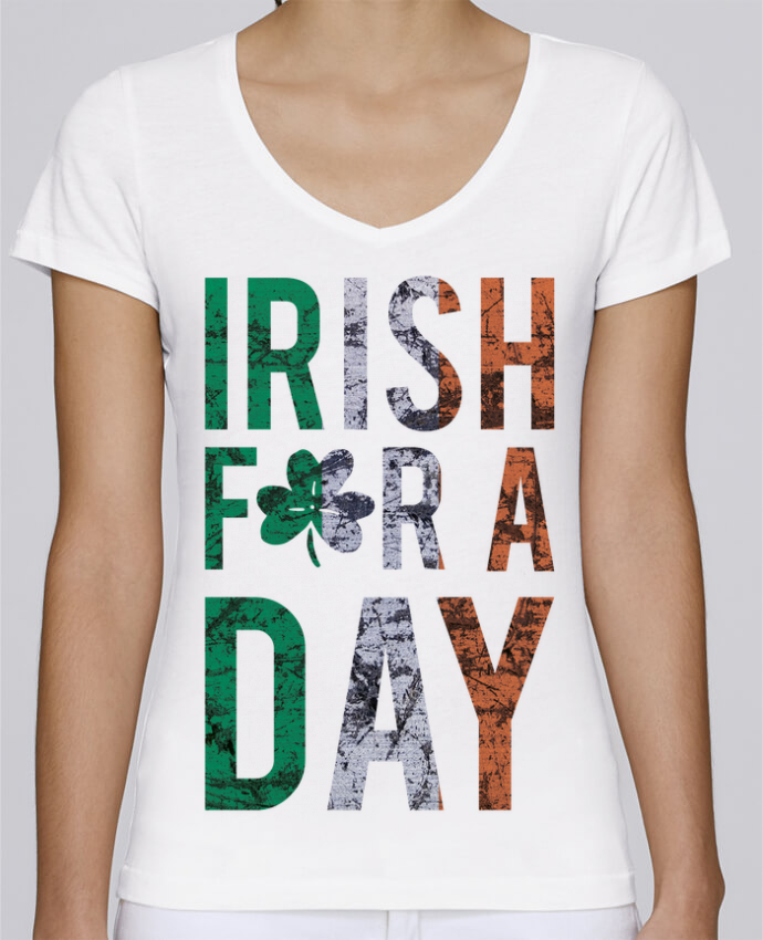 T-shirt Femme Col V Stella Chooses Irish for a day par tunetoo