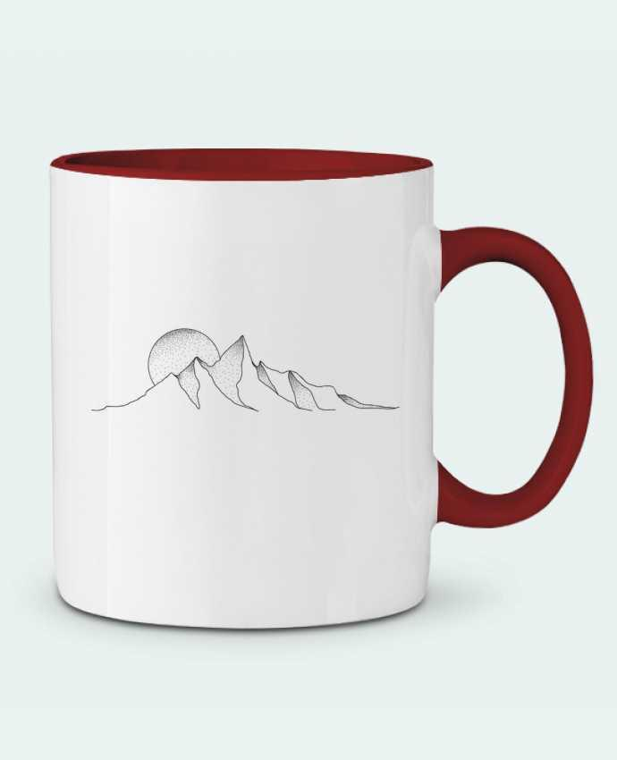 Mug en Céramique Bicolore mountain draw /wait-design
