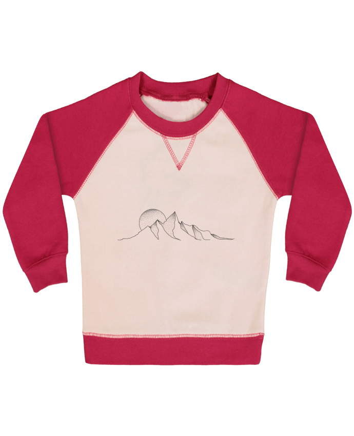 Sweat Shirt Bébé Col Rond Manches Raglan Contrastées mountain draw par /wait-design