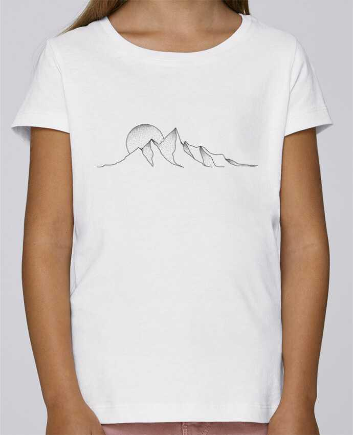 T-shirt Fille Mini Stella Draws mountain draw par /wait-design
