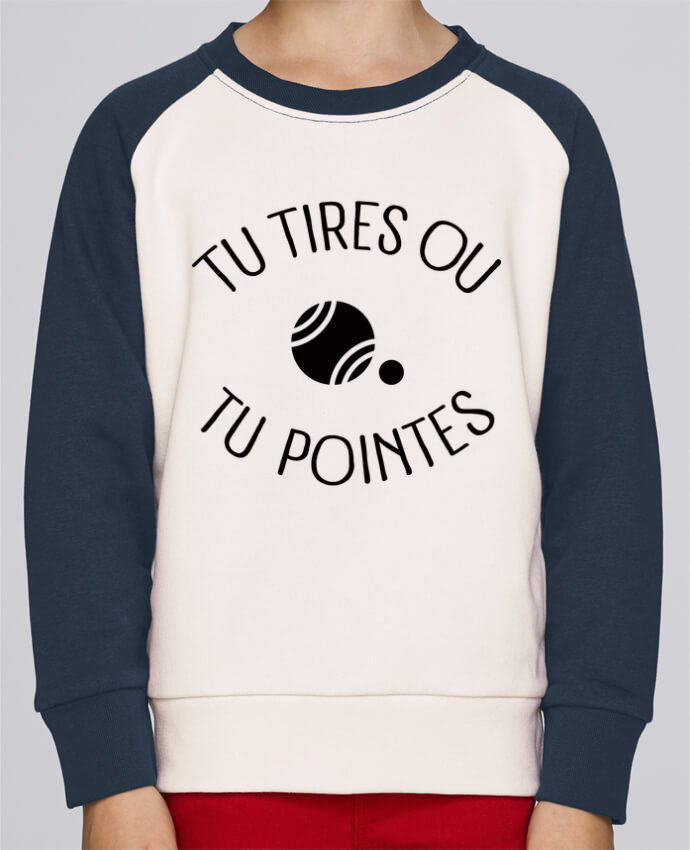 Sweat petite fille Tu Tires Ou Tu Pointes par Freeyourshirt.com