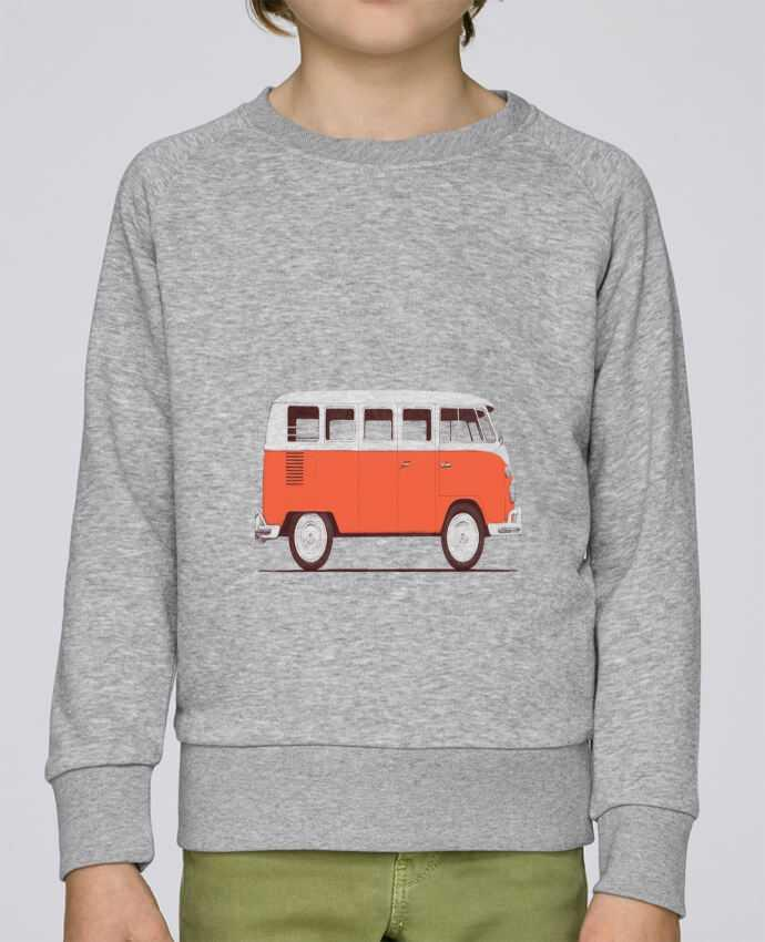 Sweat Col Rond Enfant Stanley Mini Scouts Red Van par Florent Bodart