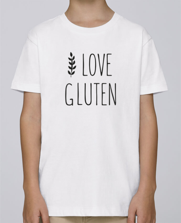 Tee Shirt Garçon Stanley Mini Paint I love gluten by Ruuud par Ruuud