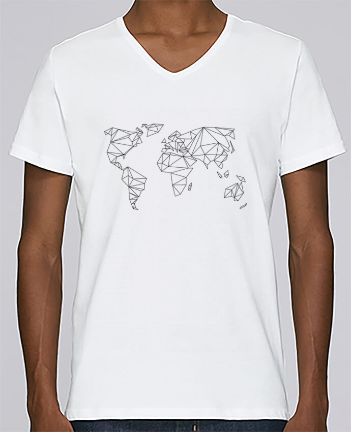 T-shirt Col V Homme Stanley Relaxes Geometrical World par na.hili