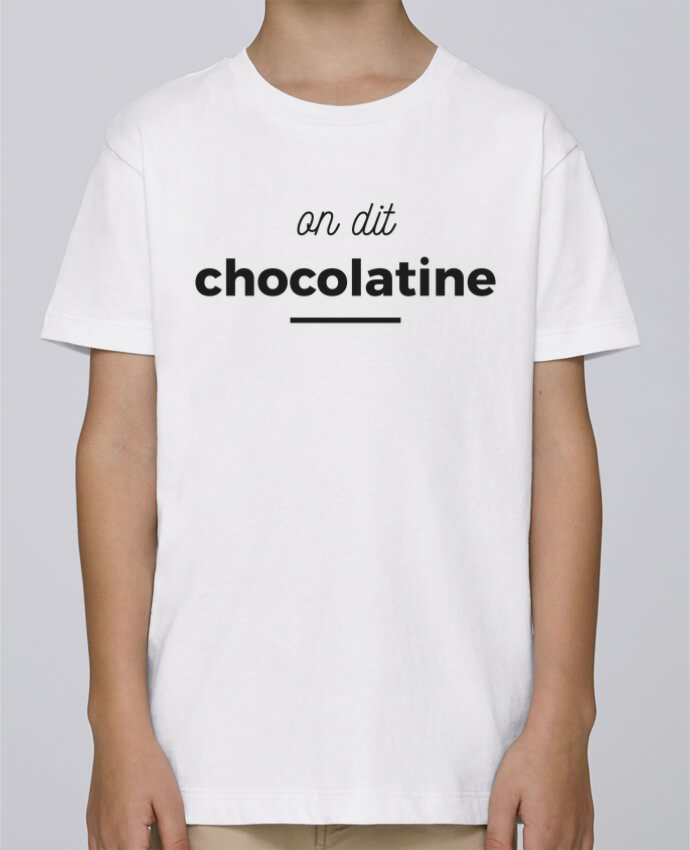 Tee Shirt Garçon Stanley Mini Paint On dit chocolatine par Ruuud