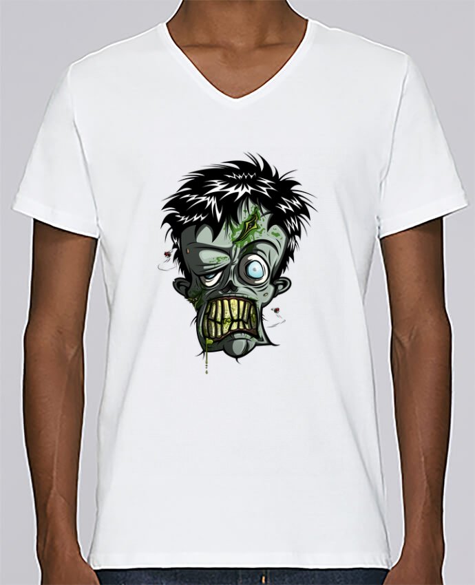 T-shirt Col V Homme Stanley Relaxes Toxic Zombie par SirCostas