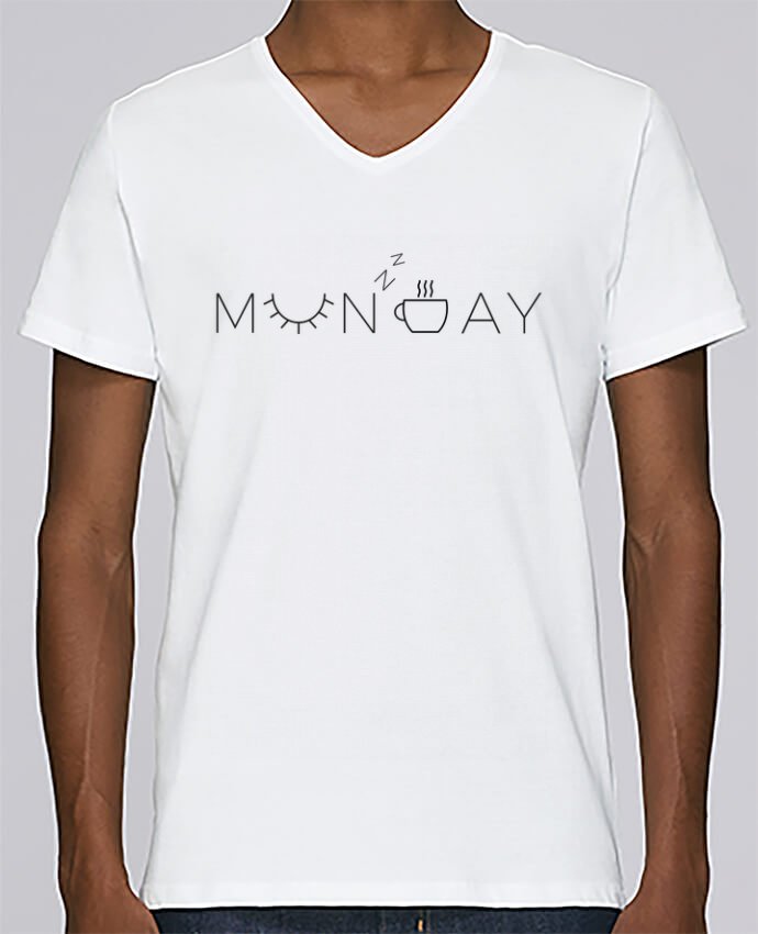 T-shirt Col V Homme Stanley Relaxes Monday par Ruuud
