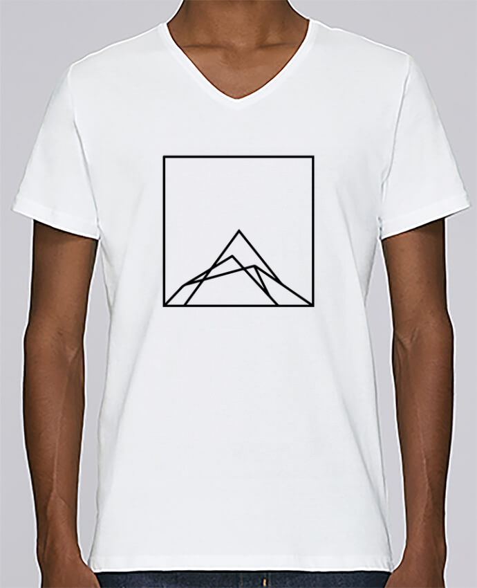 T-shirt Col V Homme Stanley Relaxes Montain by Ruuud par Ruuud