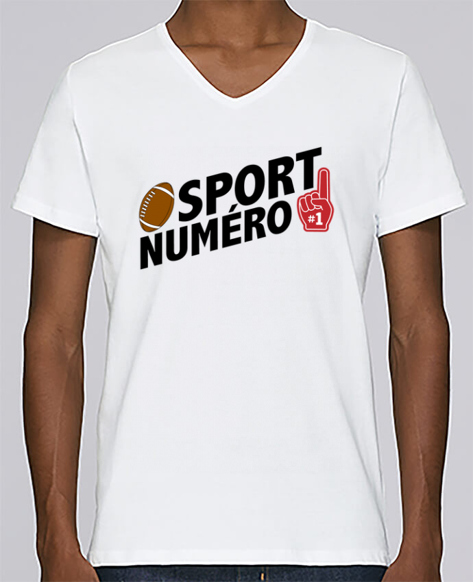 T-shirt Col V Homme Stanley Relaxes Sport numéro 1 Rugby par tunetoo