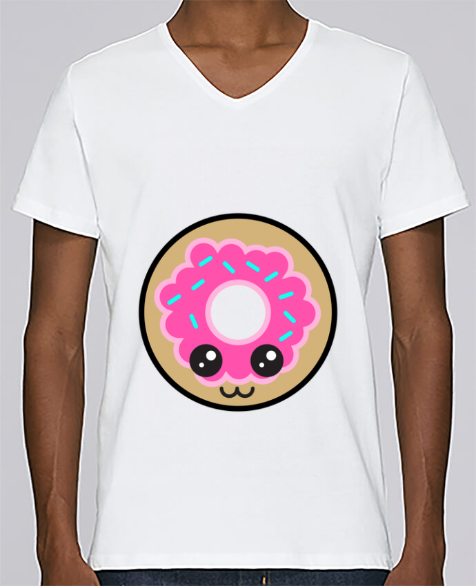 T-shirt Col V Homme Stanley Relaxes Donut par Anonymous