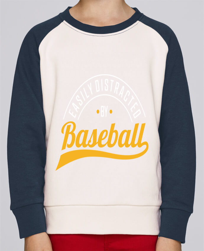 Sweat Shirt Col Rond Enfant Stanley Mini Contrast Distracted by Baseball par Original t-shirt