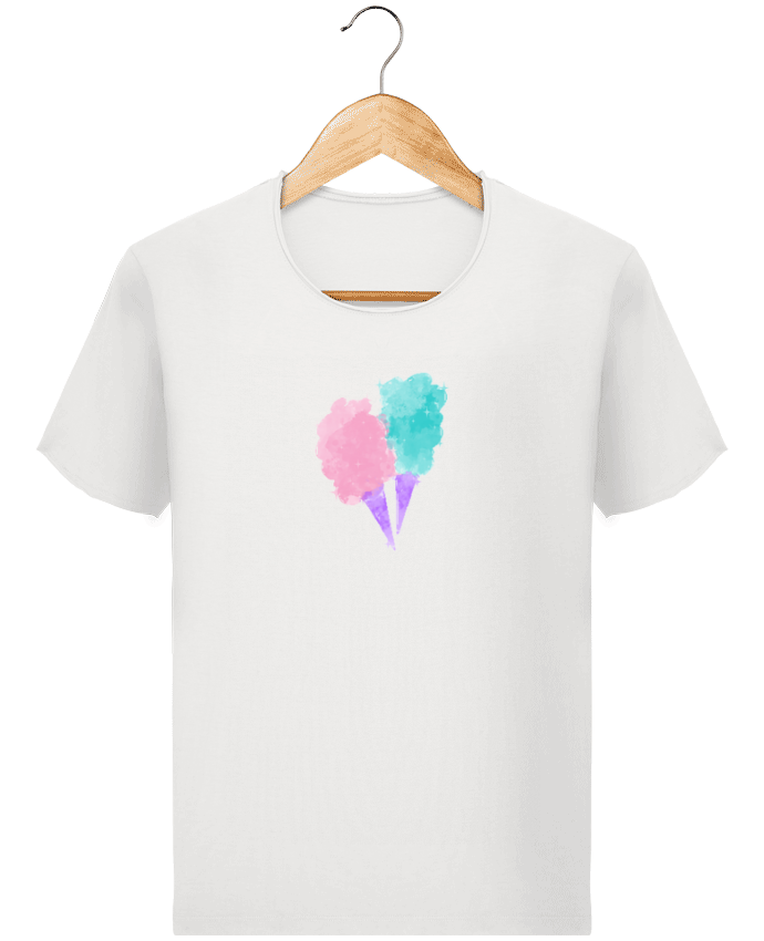 T-shirt Homme Stanley Imagines Vintage Watercolor Cotton Candy par PinkGlitter