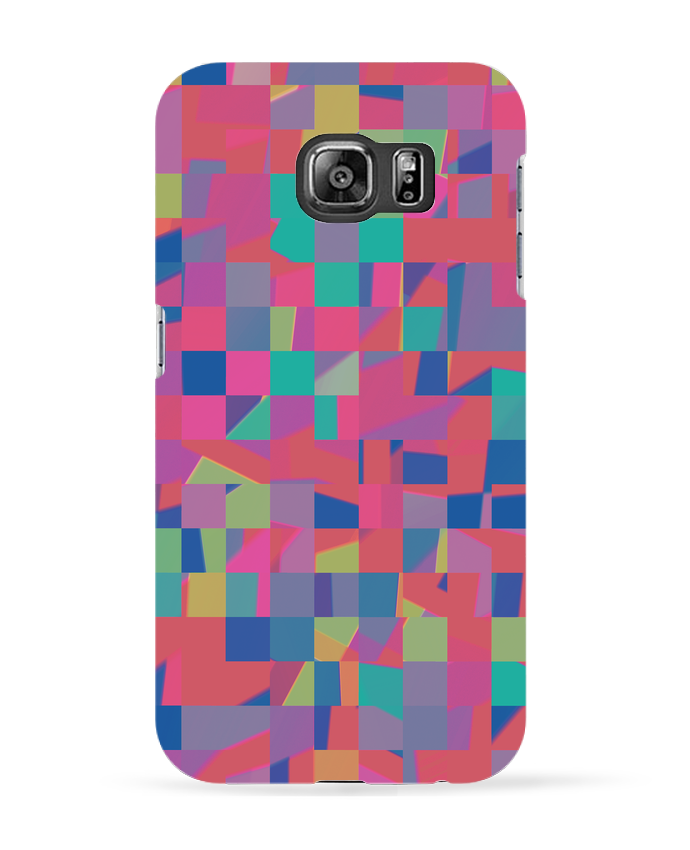 Coque 3D Samsung Galaxy S6 Pink Check - L