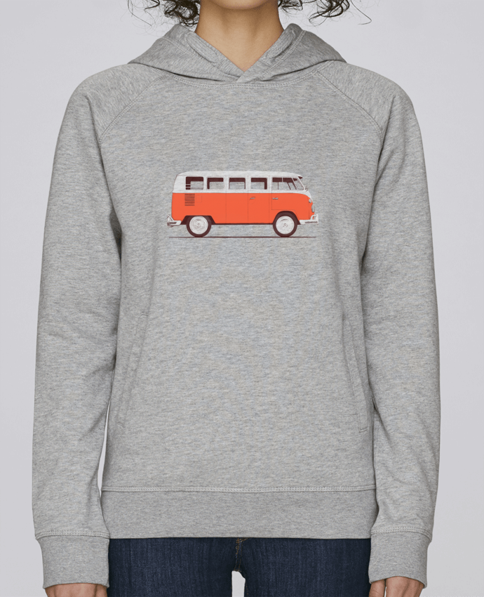 Sweat Capuche Femme Stanley Base Red Van par Florent Bodart