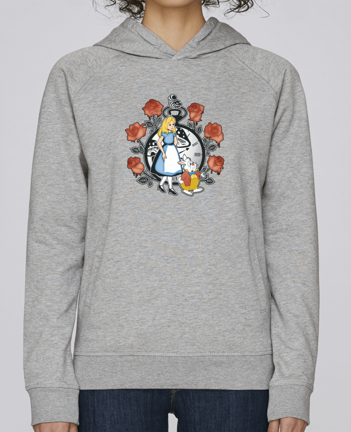 Sweat Capuche Femme Stanley Base Time for Wonderland par Kempo24