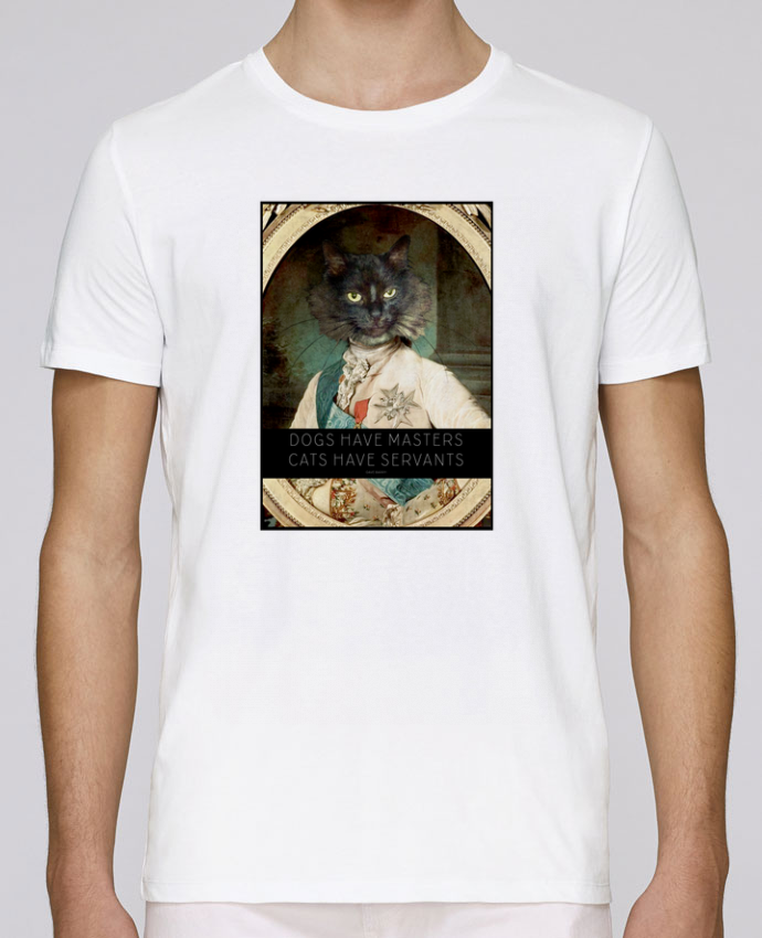 T-Shirt Col Rond Stanley Leads King Cat par Tchernobayle