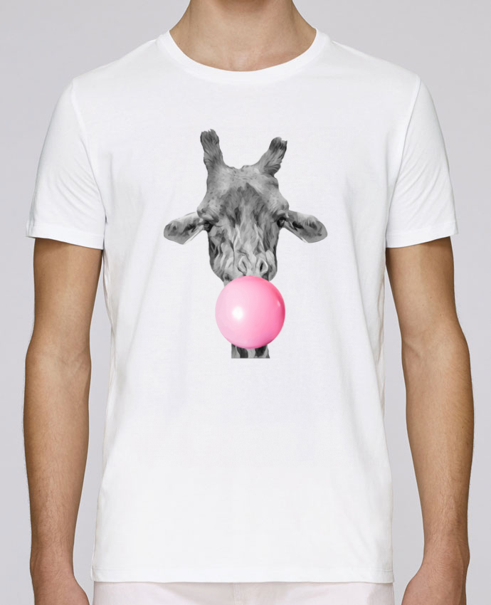 T-Shirt Col Rond Stanley Leads Girafe bulle par justsayin